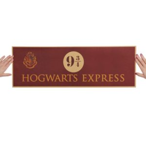 Affiche Hogwarts Express 9 3/4 sur fond blanc