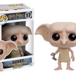 Figurine POP Dobby avec sa boîte sur fond blanc