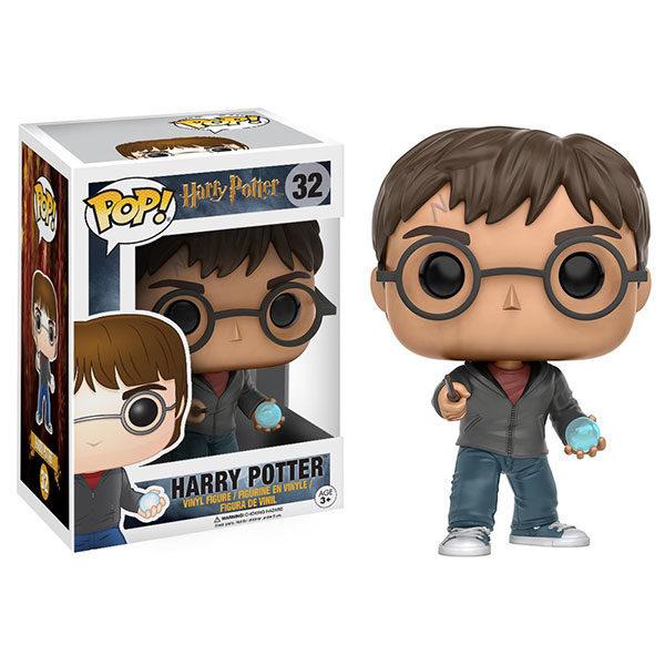 Figurine POP Harry Potter avec sa baguette son cristal et sa boîte