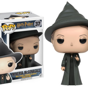 Figurine POP Minerva McGonagall avec sa boîte sur fond blanc