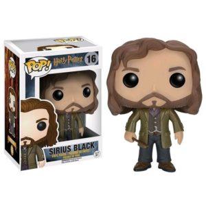 Figurine POP Sirius Black avec sa boîte sur fond blanc