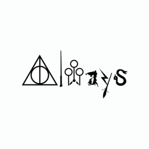 Sticker Harry Potter Always noir sur fond blanc