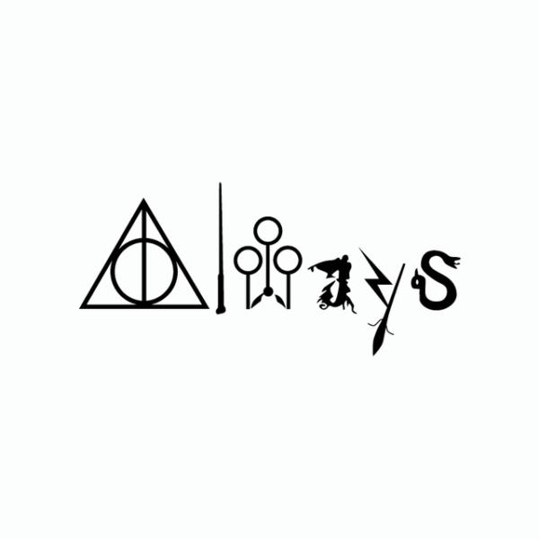 Sticker Harry Potter Always noir sur fond blanc