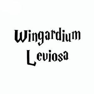 Sticker Wingardium Leviosa noir sur fond blanc