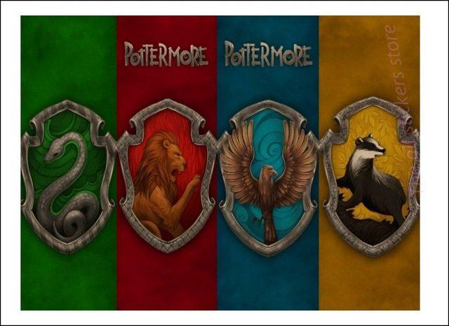 Affiches Des 4 Maisons De Poudlard Harry Potter Wingardium Leviosa