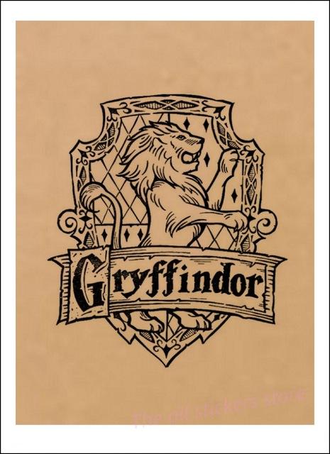 Affiche Gryffondor en noir et blanc - Harry Potter