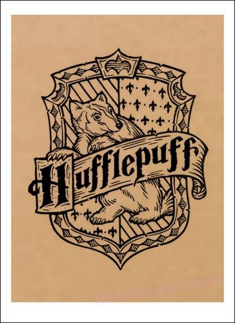 Affiche Poufsouffle en noir et blanc - Harry Potter