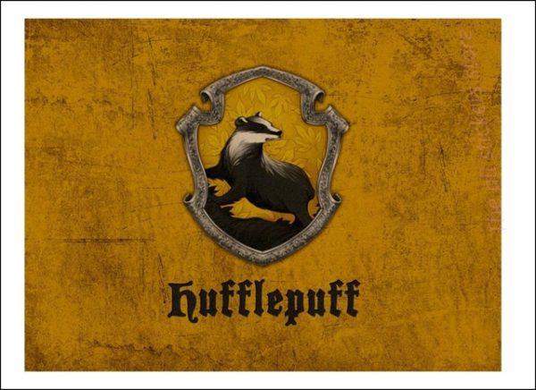 Affiche Harry Potter maison des Poufsouffle