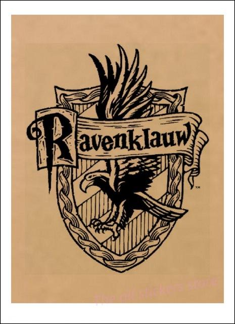 Affiche Serdaigle en noir et blanc - Harry Potter