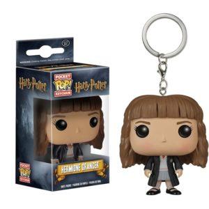 Porte-clés Hermione Granger dans sa boîte en figurine POP sur fond blanc