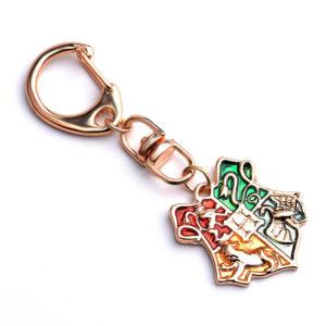 porte clés harry potter serpentard, poufsouffle, griffondor, serdaigle