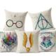 Taie d'oreiller Harry Potter différents modèles sur fond blanc