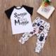 Ensemble pour bébé Harry Potter avec un Tee-shirt, un pantalon et un cadre
